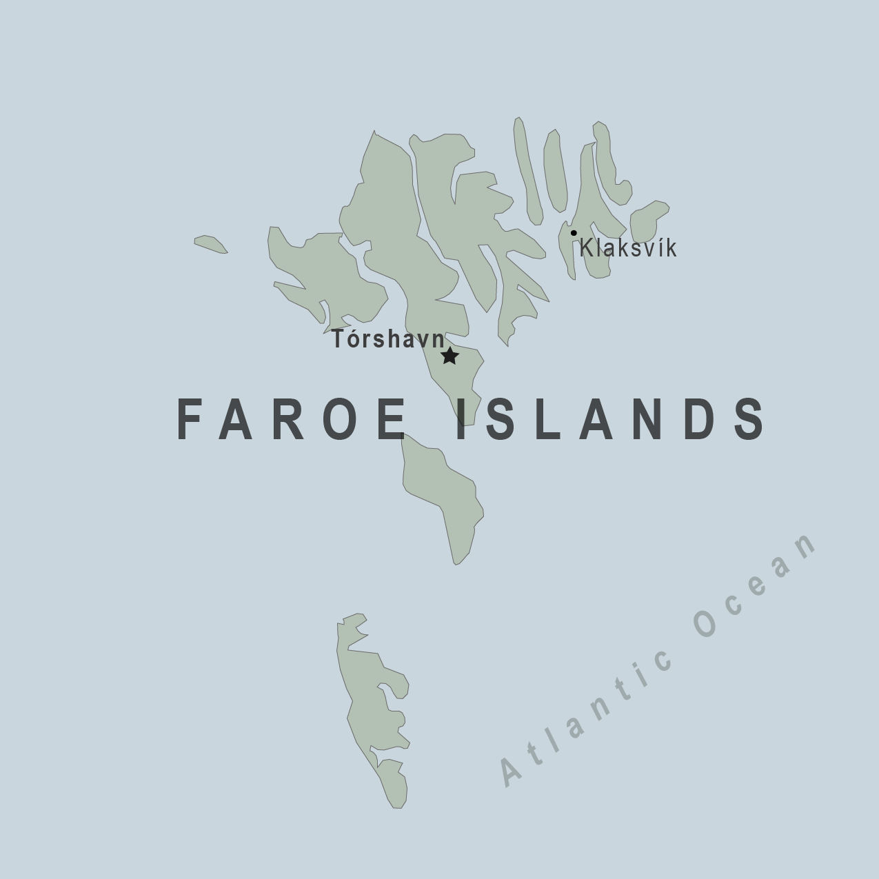 Map - Faroe Islands