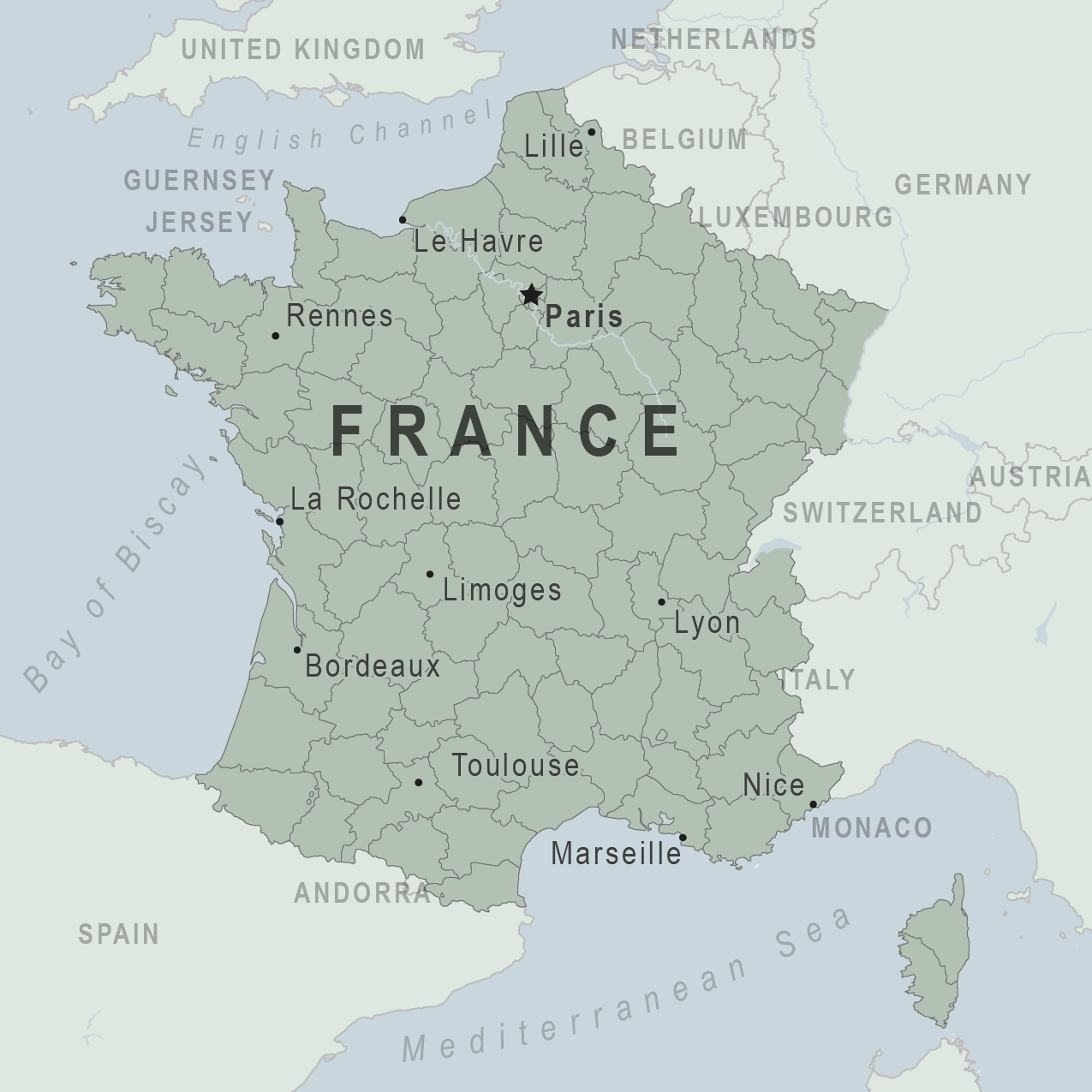 Map - France