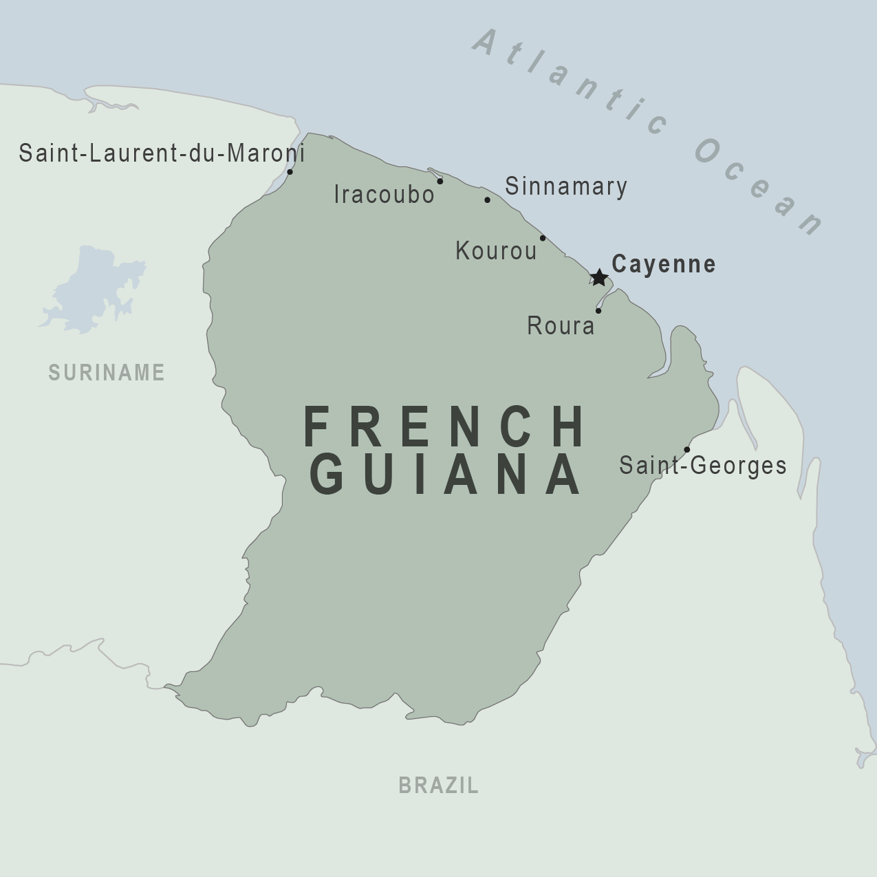 Health Information For Travelers To French Guiana France - South america french guiana map