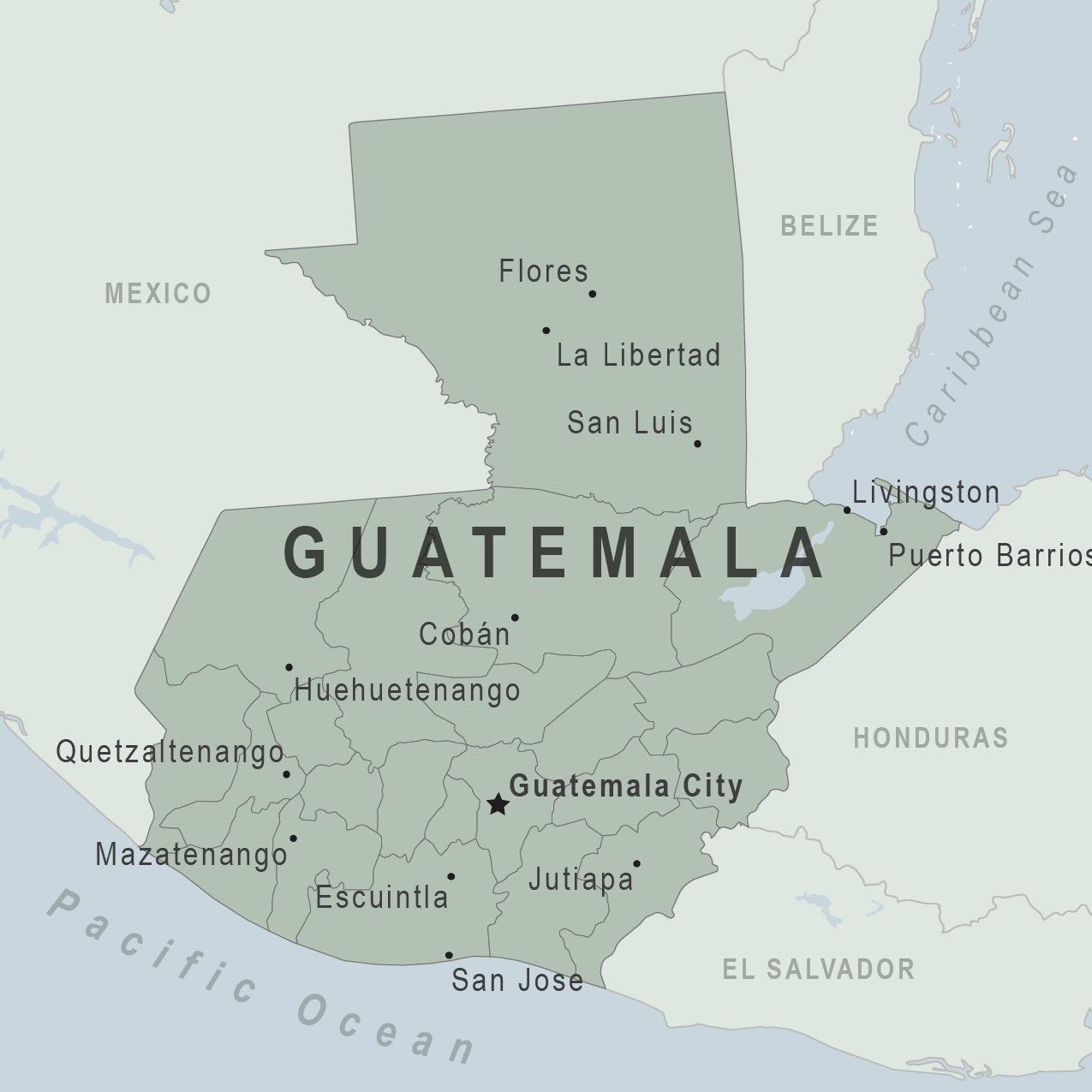 Map - Guatemala
