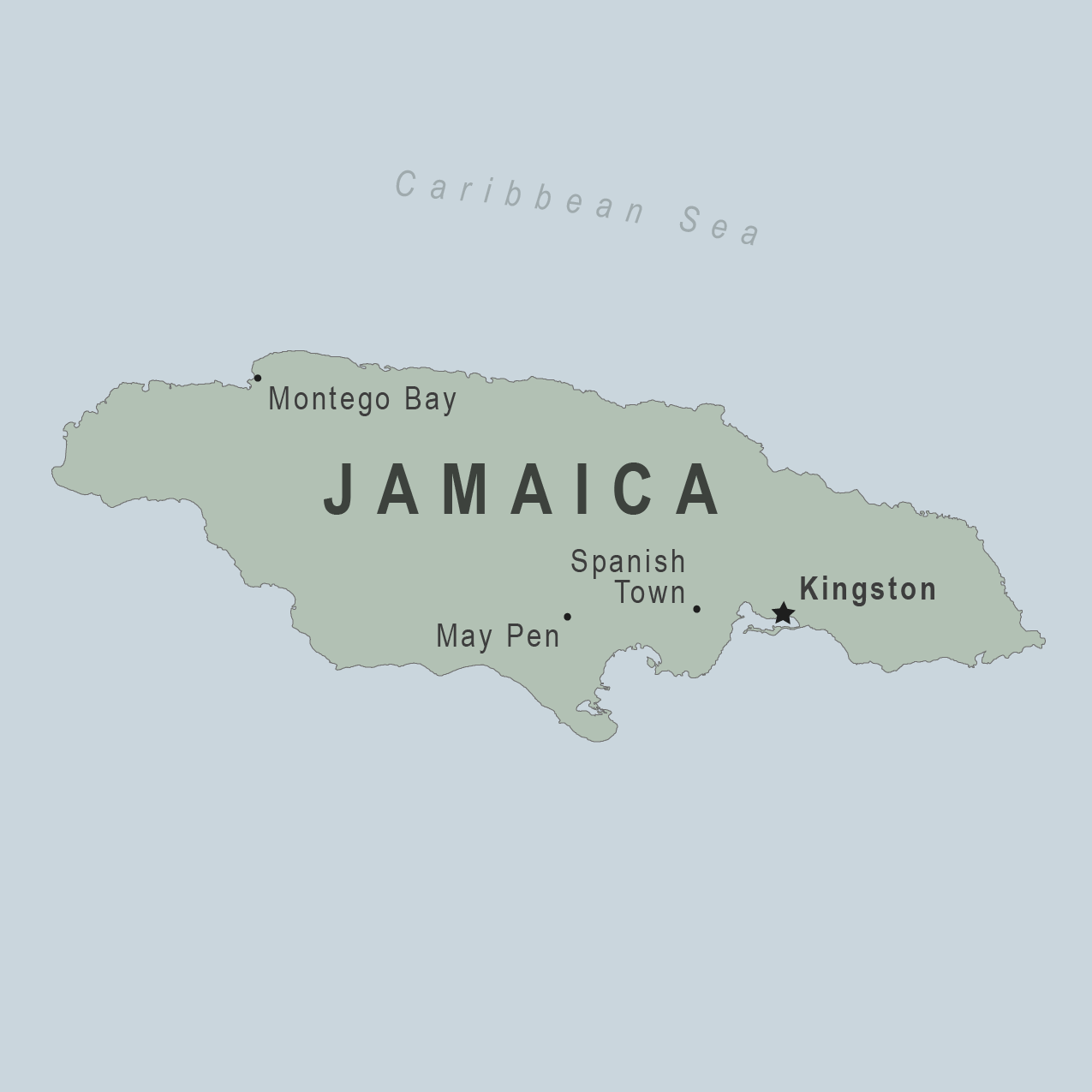Map - Jamaica