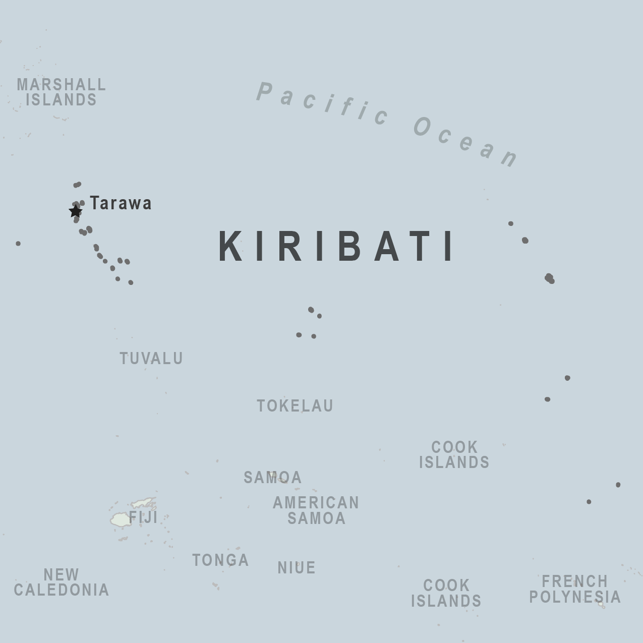 Map - Kiribati