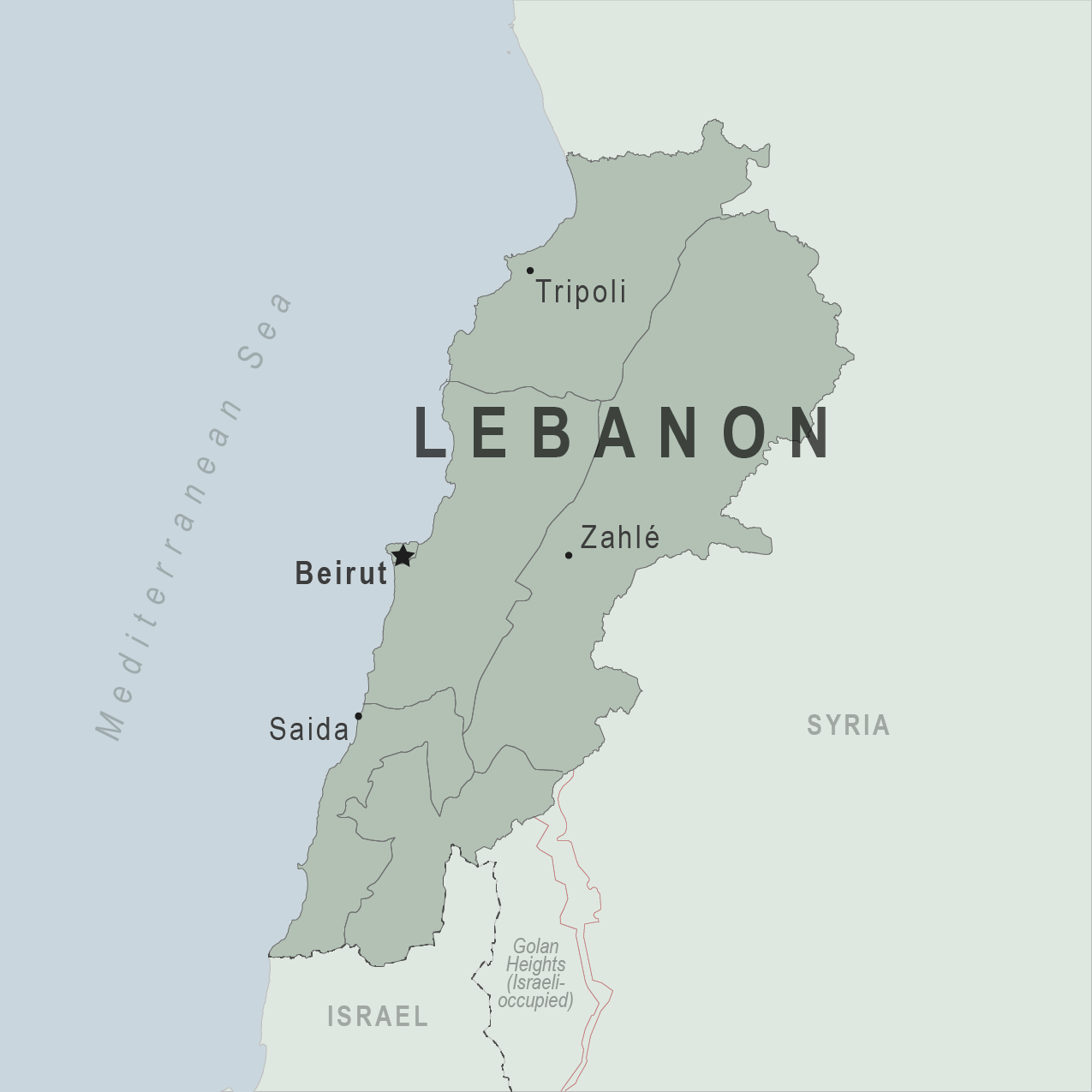 Map - Lebanon