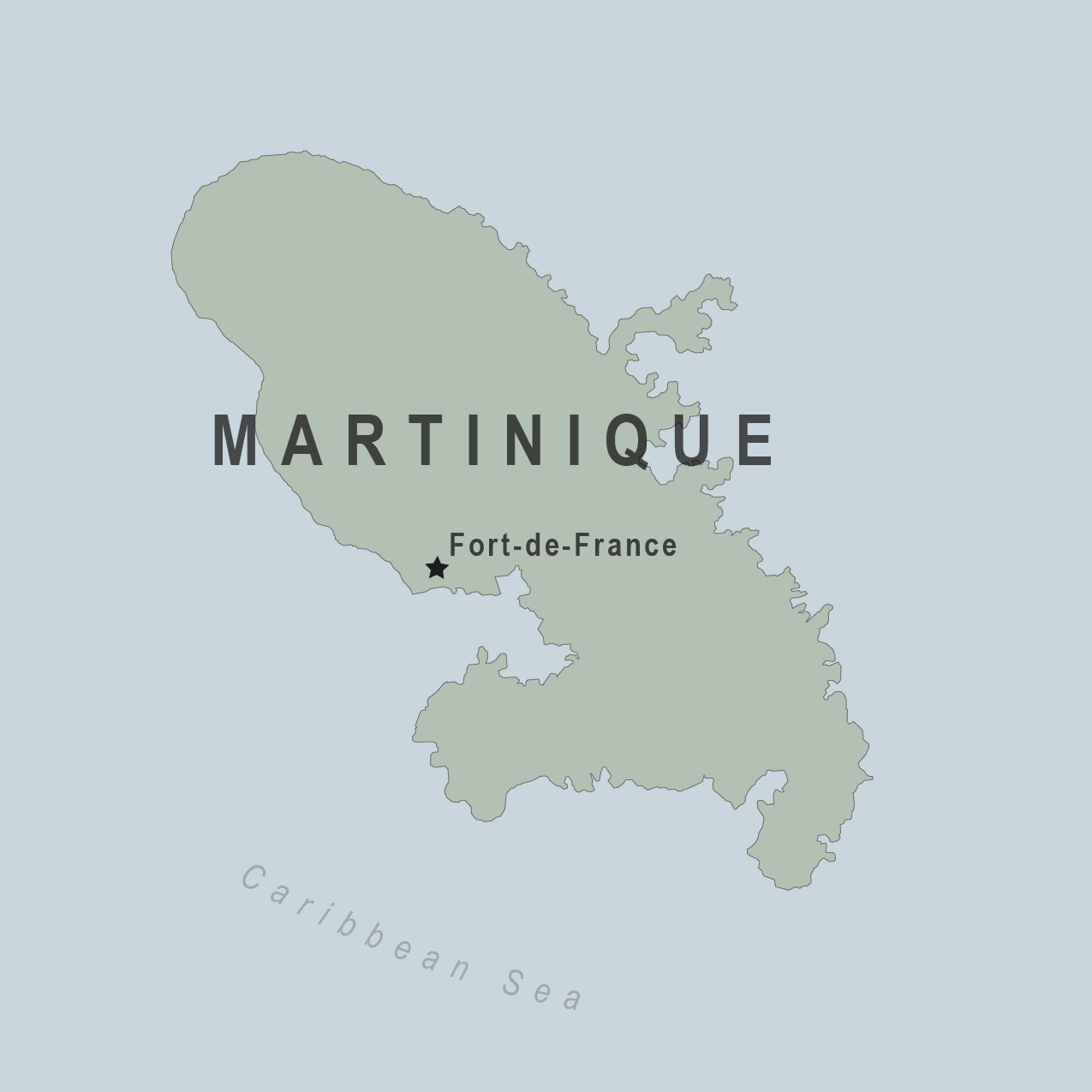 Map - Martinique (France)