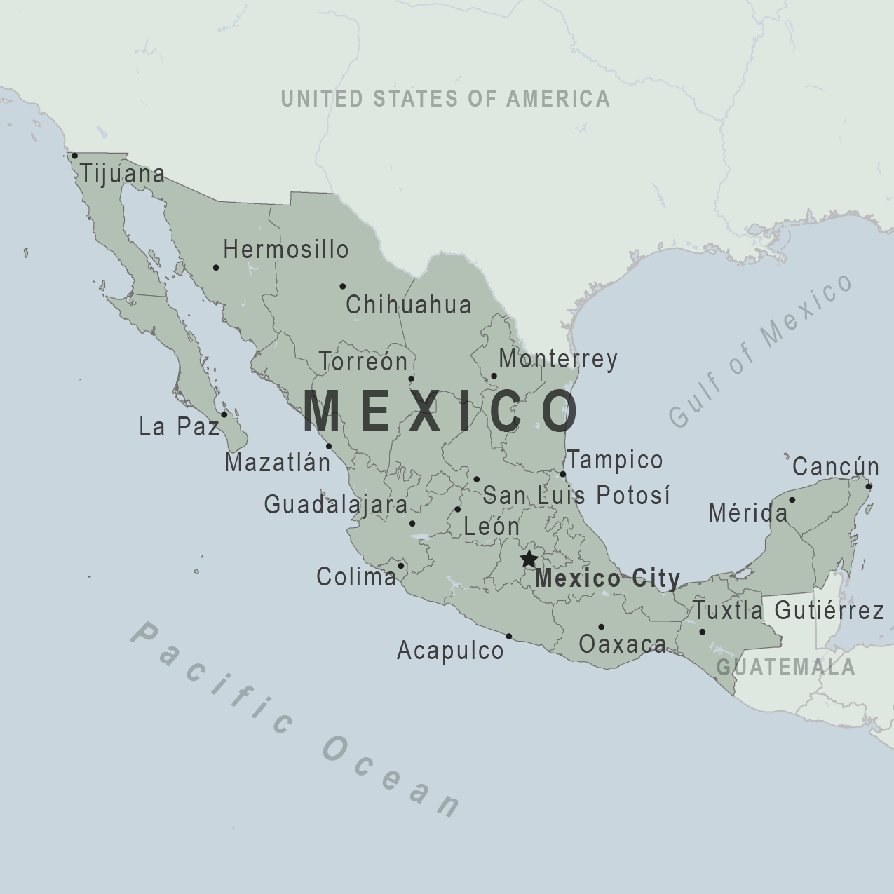 Health Information For Travelers To Mexico Traveler View - Mexico usa map