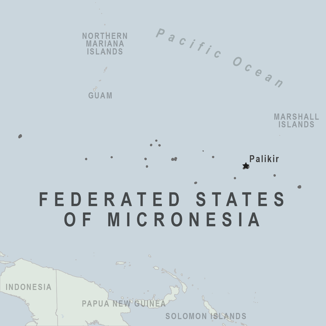 Health Information For Travelers To The Federated States Of - Micronesia interactive map