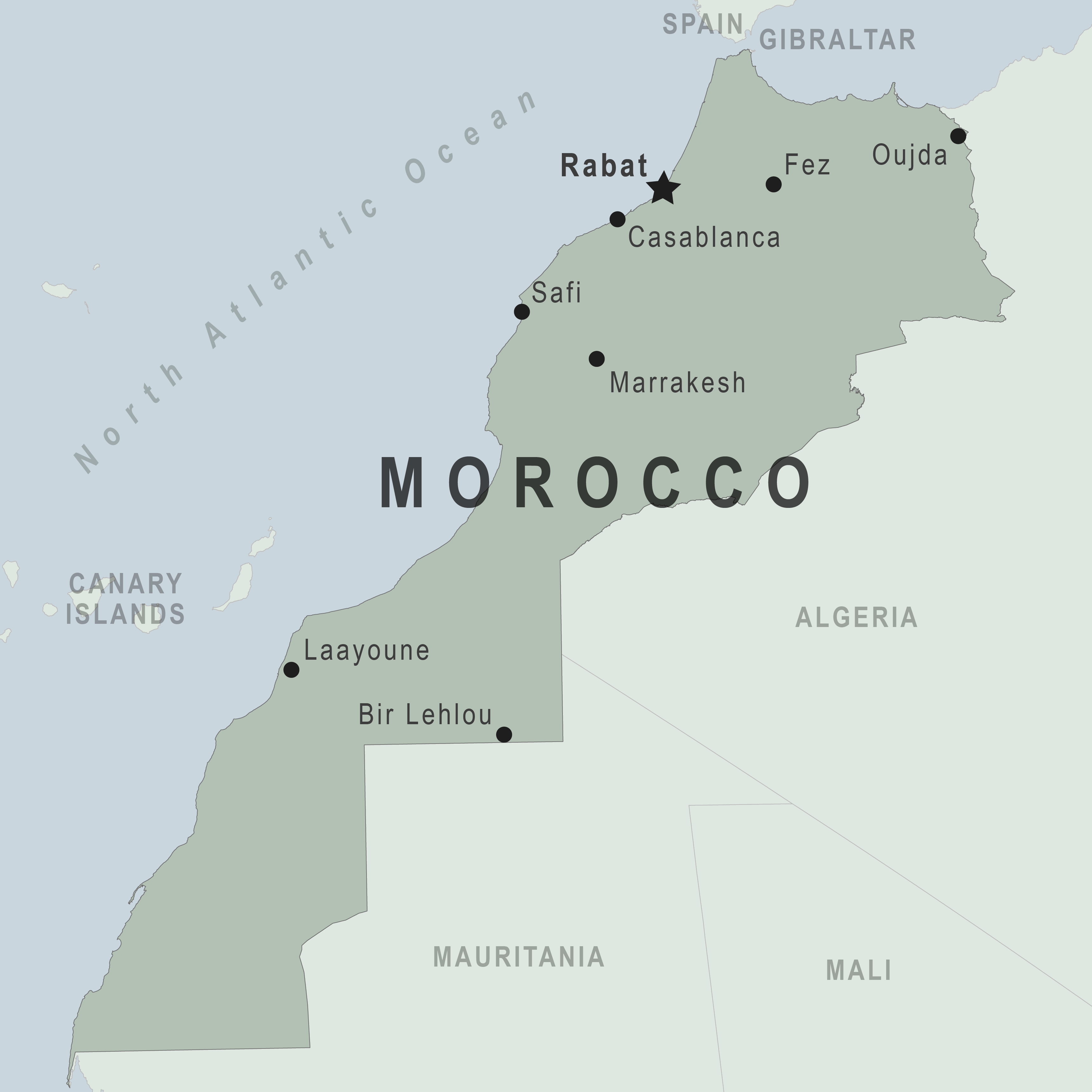 Map - Morocco