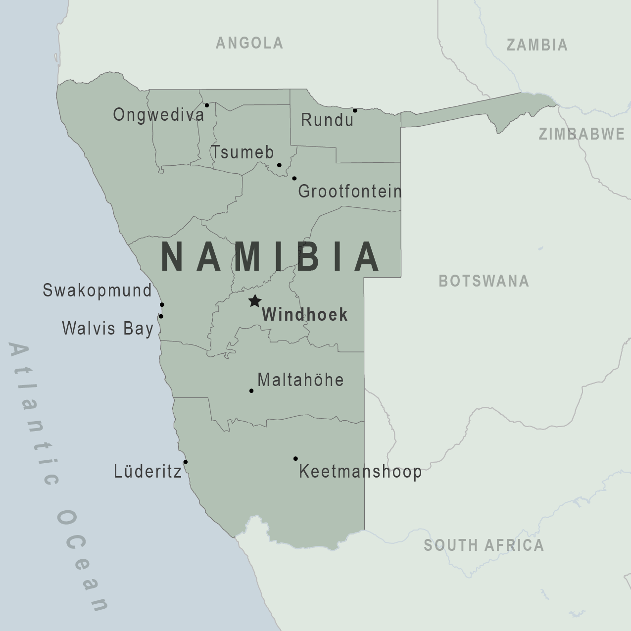 Map - Namibia