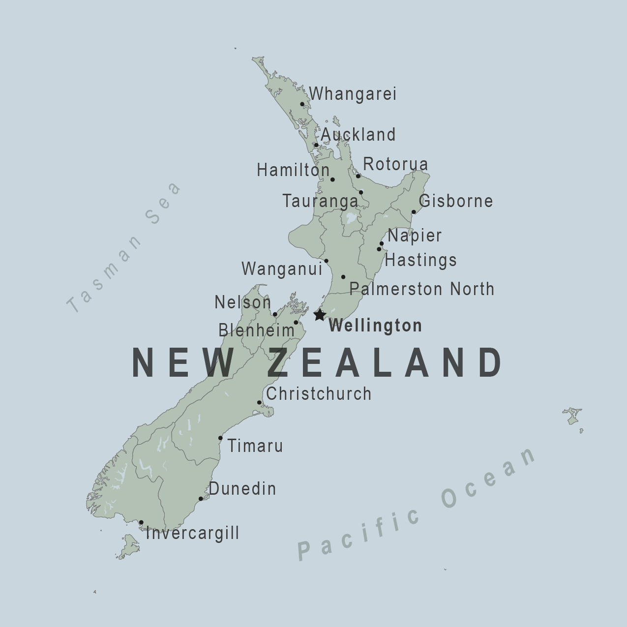 Map - New Zeland