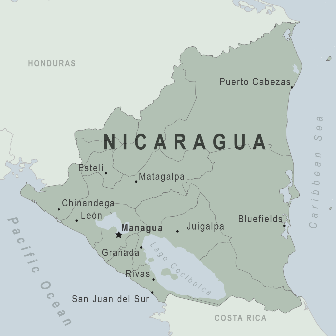 Nicaragua Lessons Tes Teach - Map of nicaragua