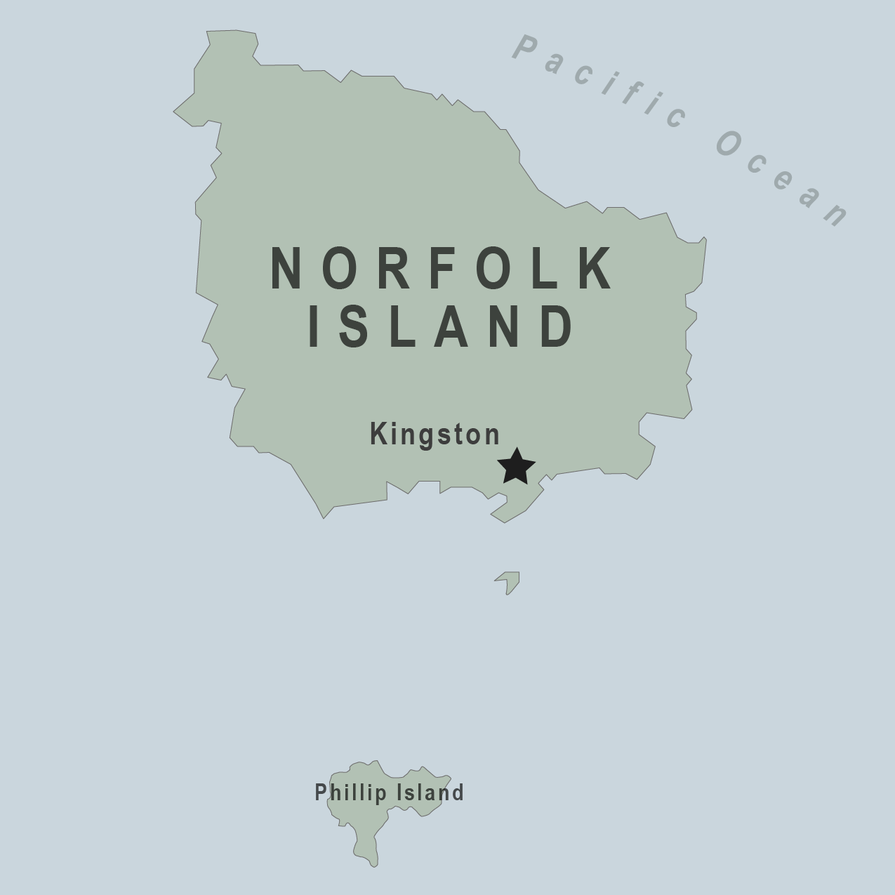 Map - Norfolk Islands