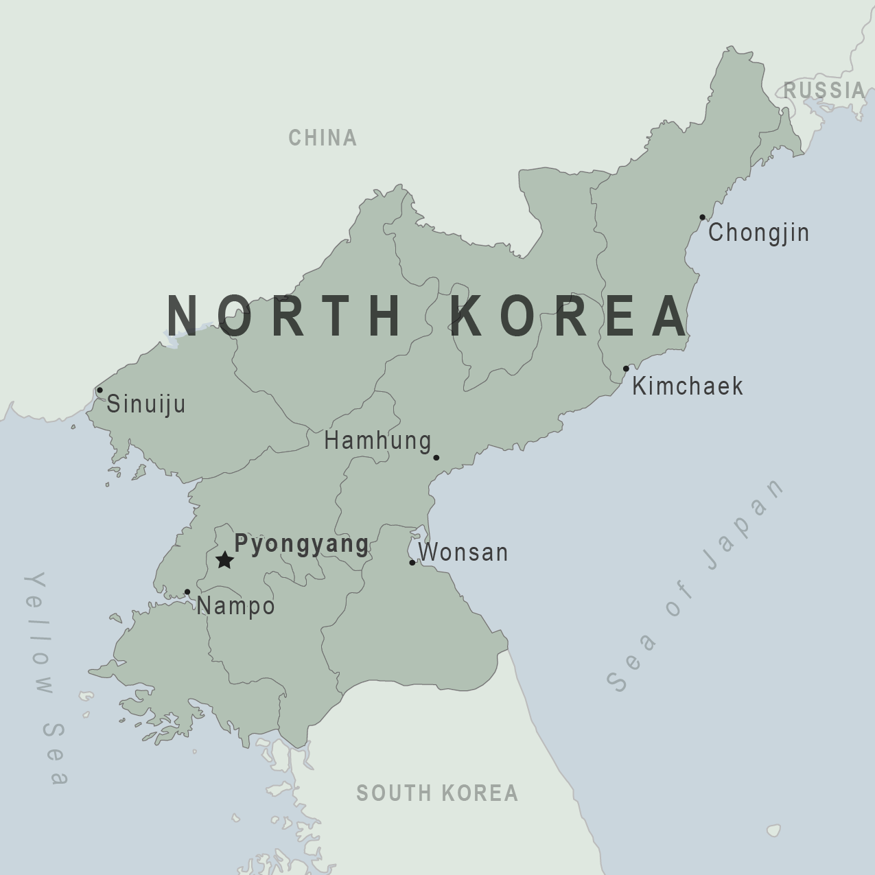 Map - North Korea