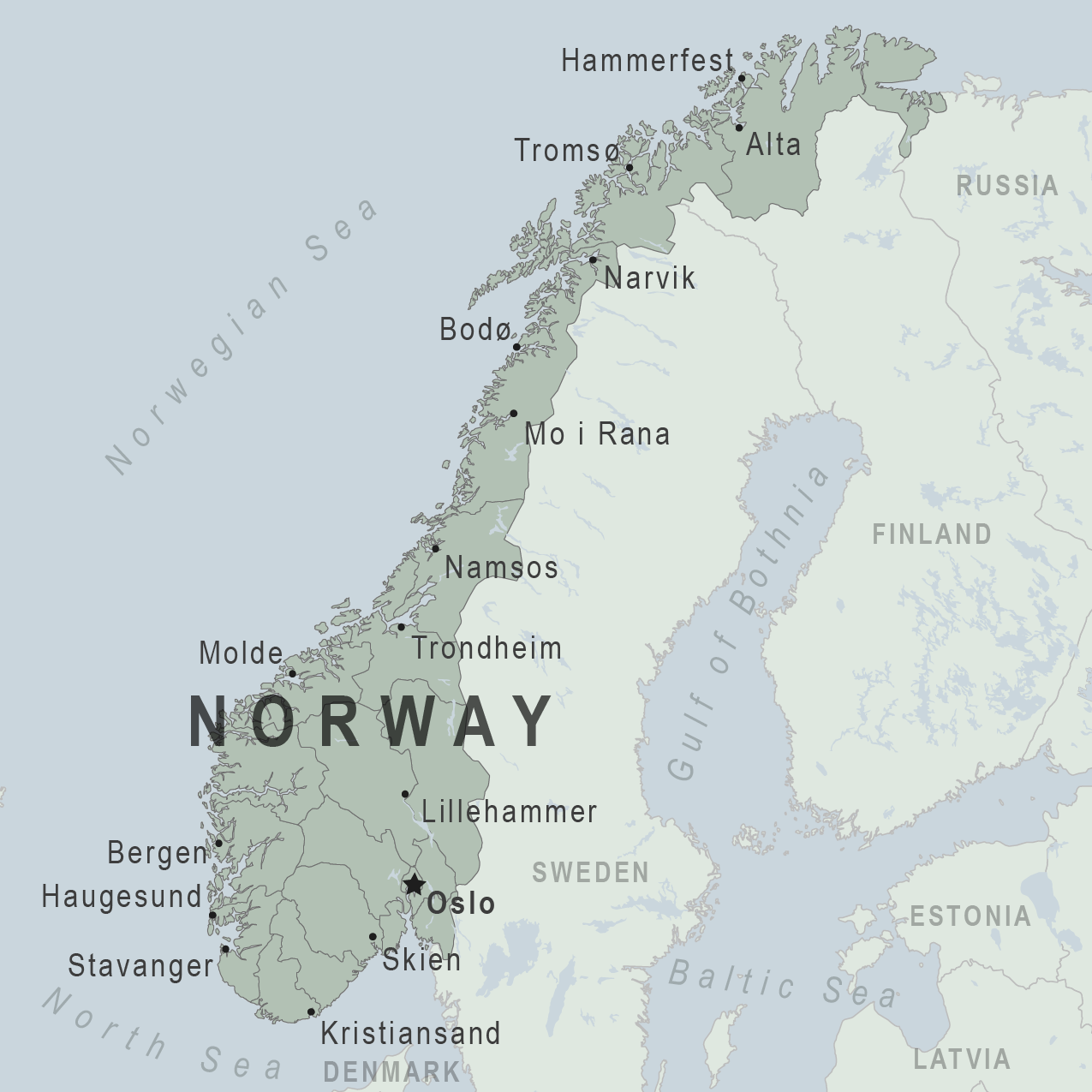 Health Information For Travelers To Norway Clinician View - Where is norway