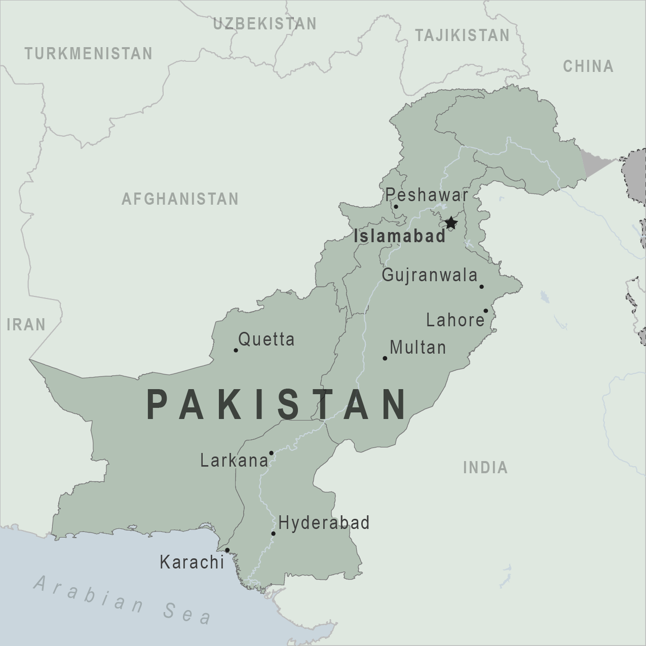 Map - Pakistan