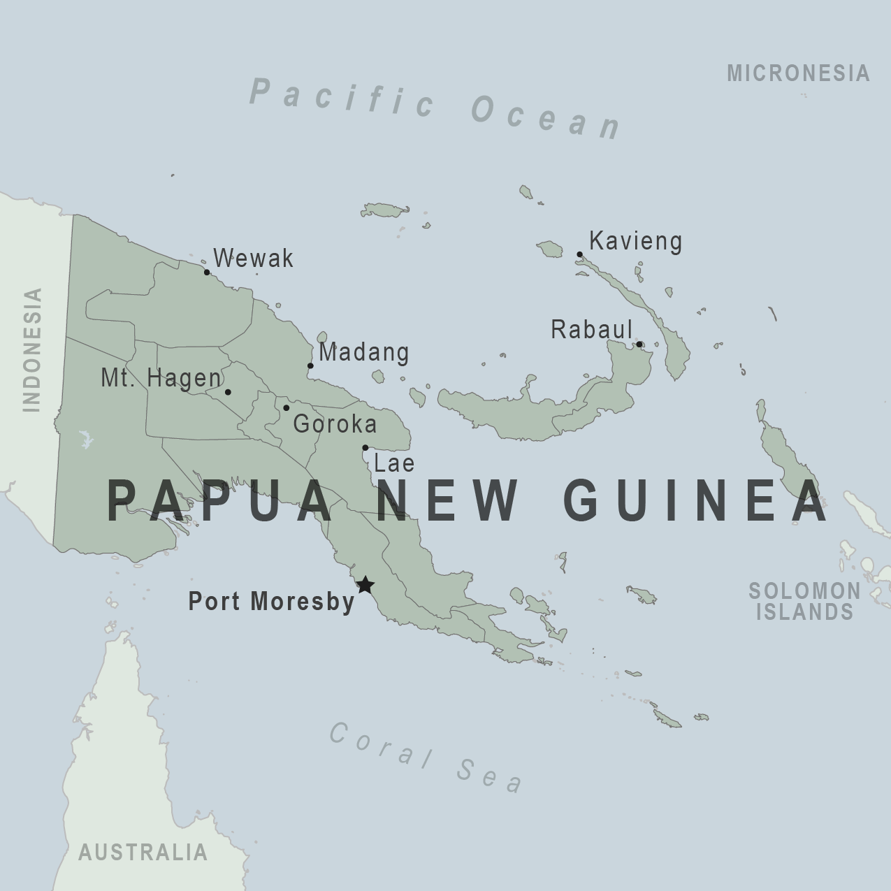 Map - Papua New Guinea