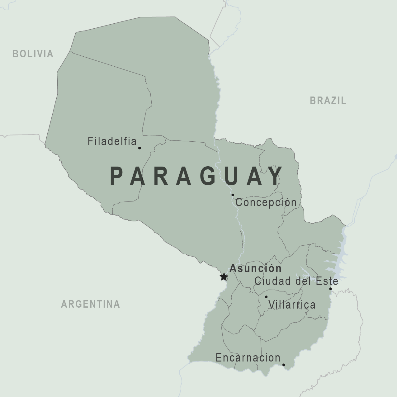 Health Information For Travelers To Paraguay Traveler View - Map of paraguay