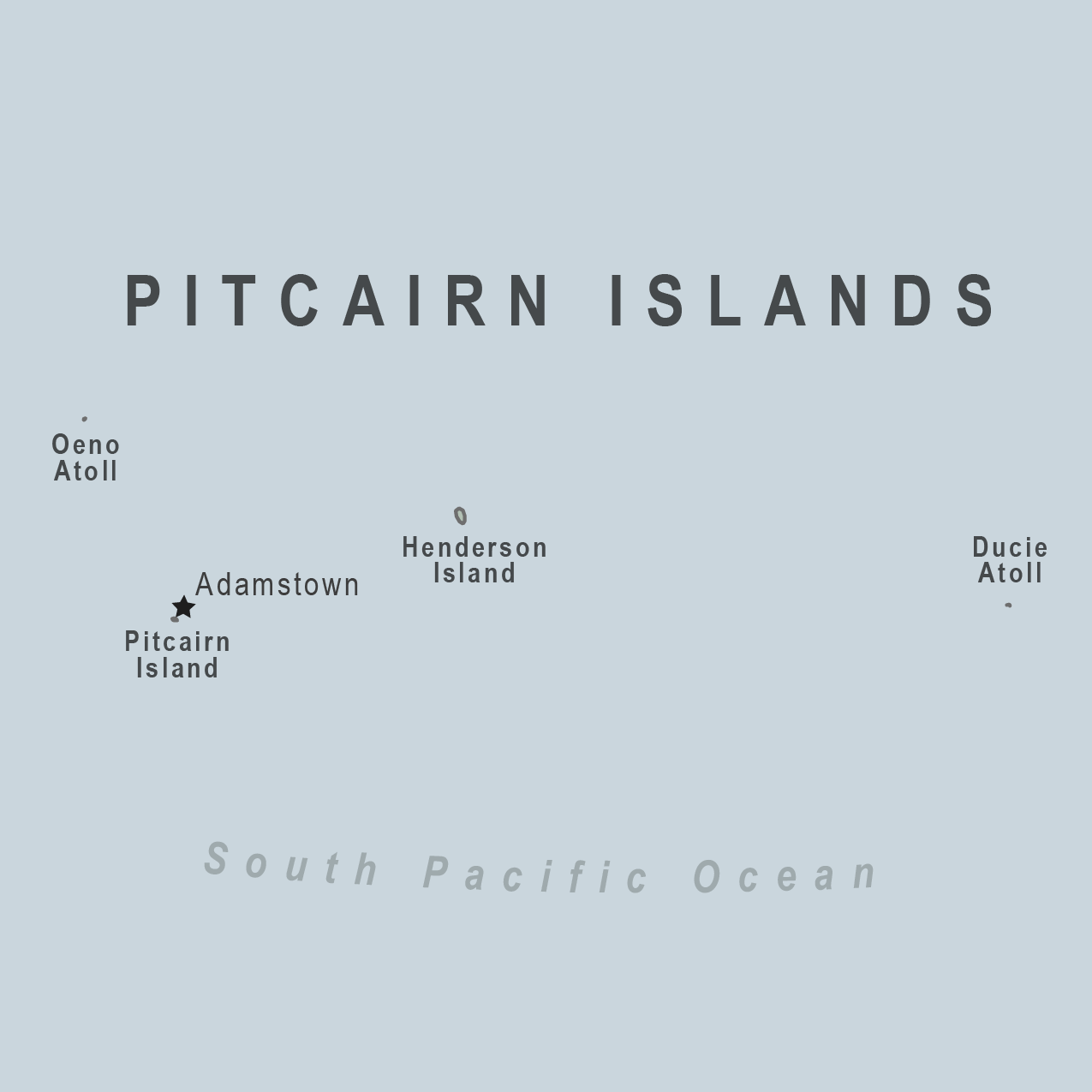 Map - Pitcairn Islands (U.K.)