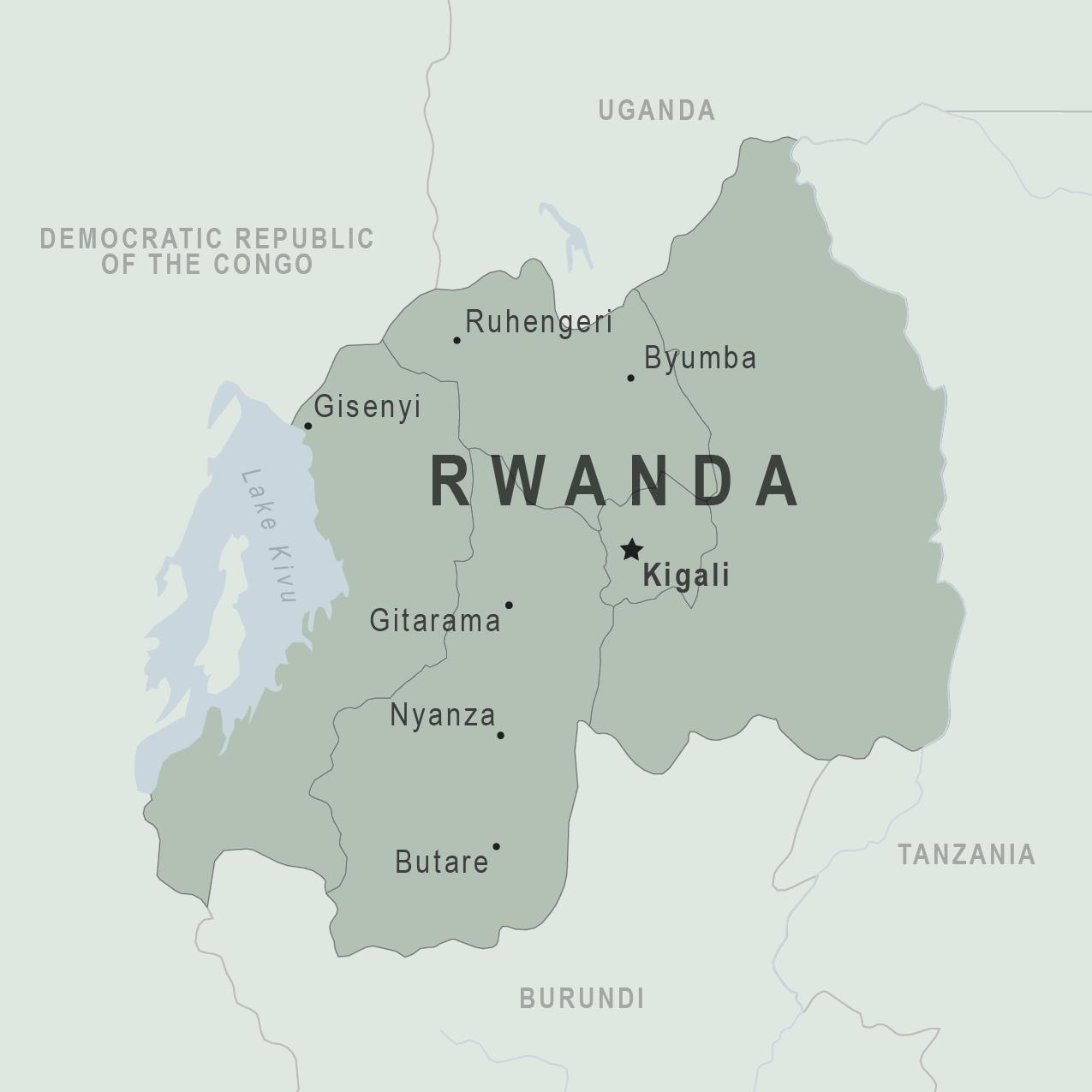 Health Information For Travelers To Rwanda Traveler View - Rwanda map
