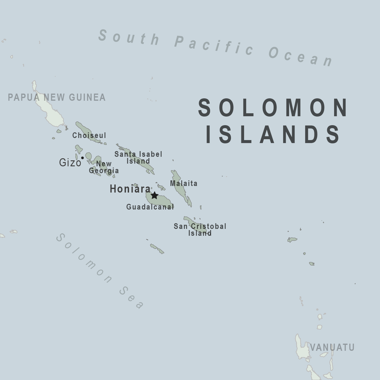 Map - Solomon Islands