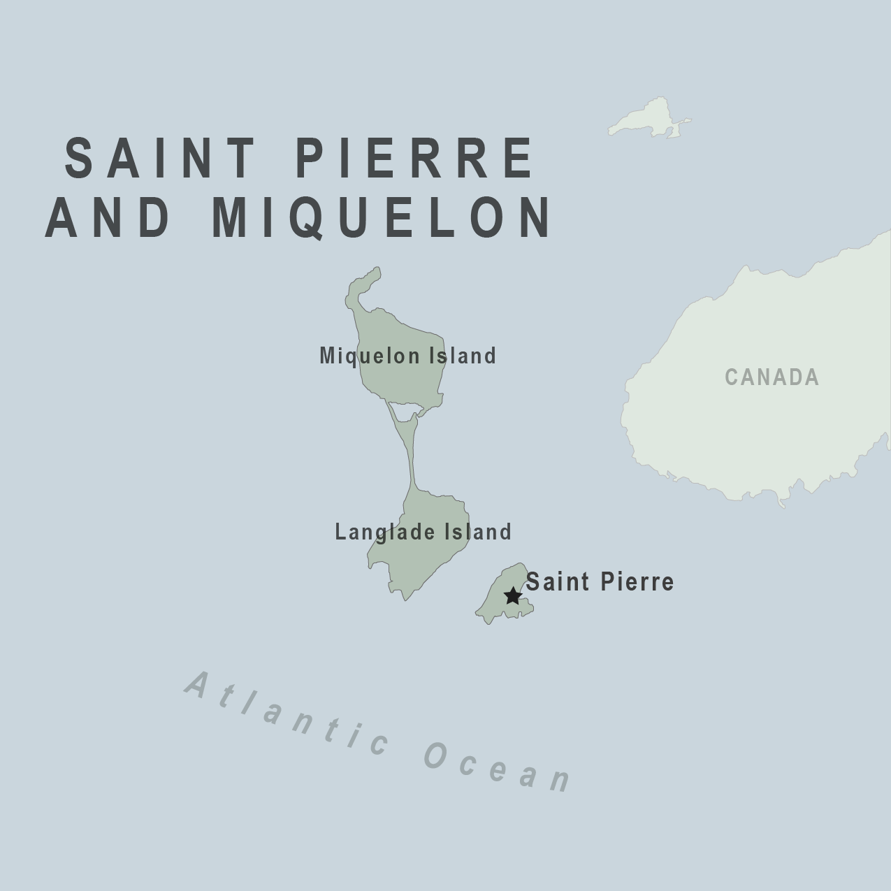 Map - St Pierre Miquelon