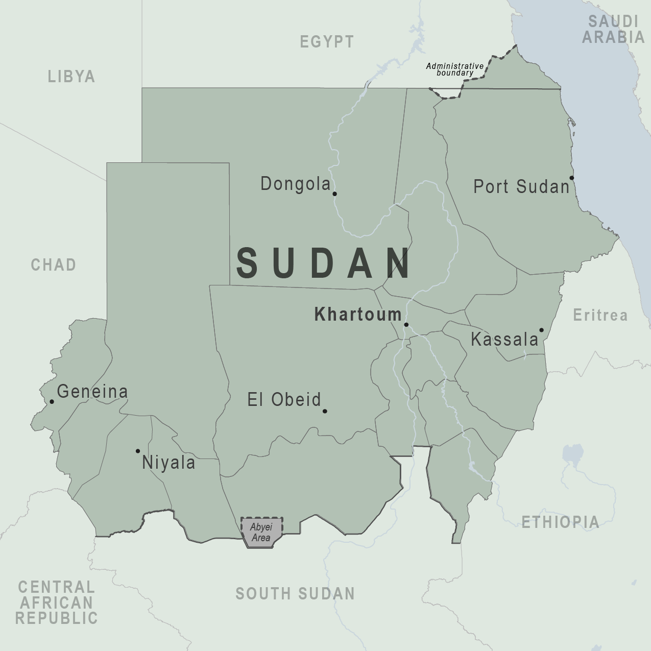 Health Information for Travelers to Sudan - Traveler view ... Sudan Travel Maps