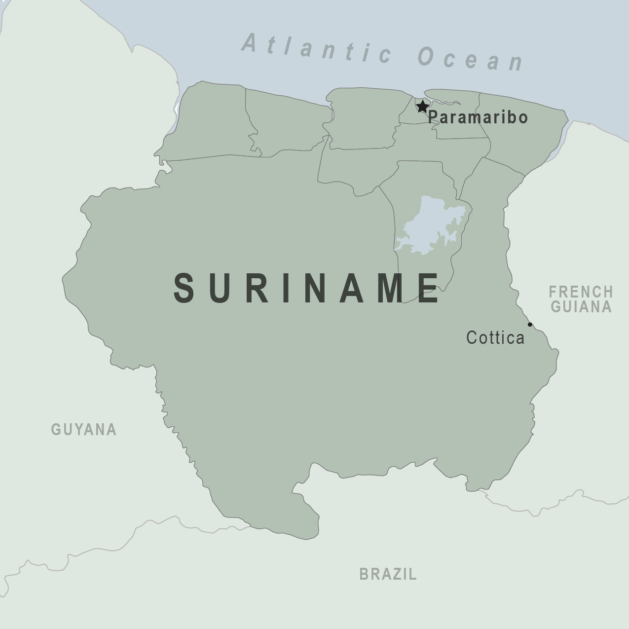 Map - Suriname