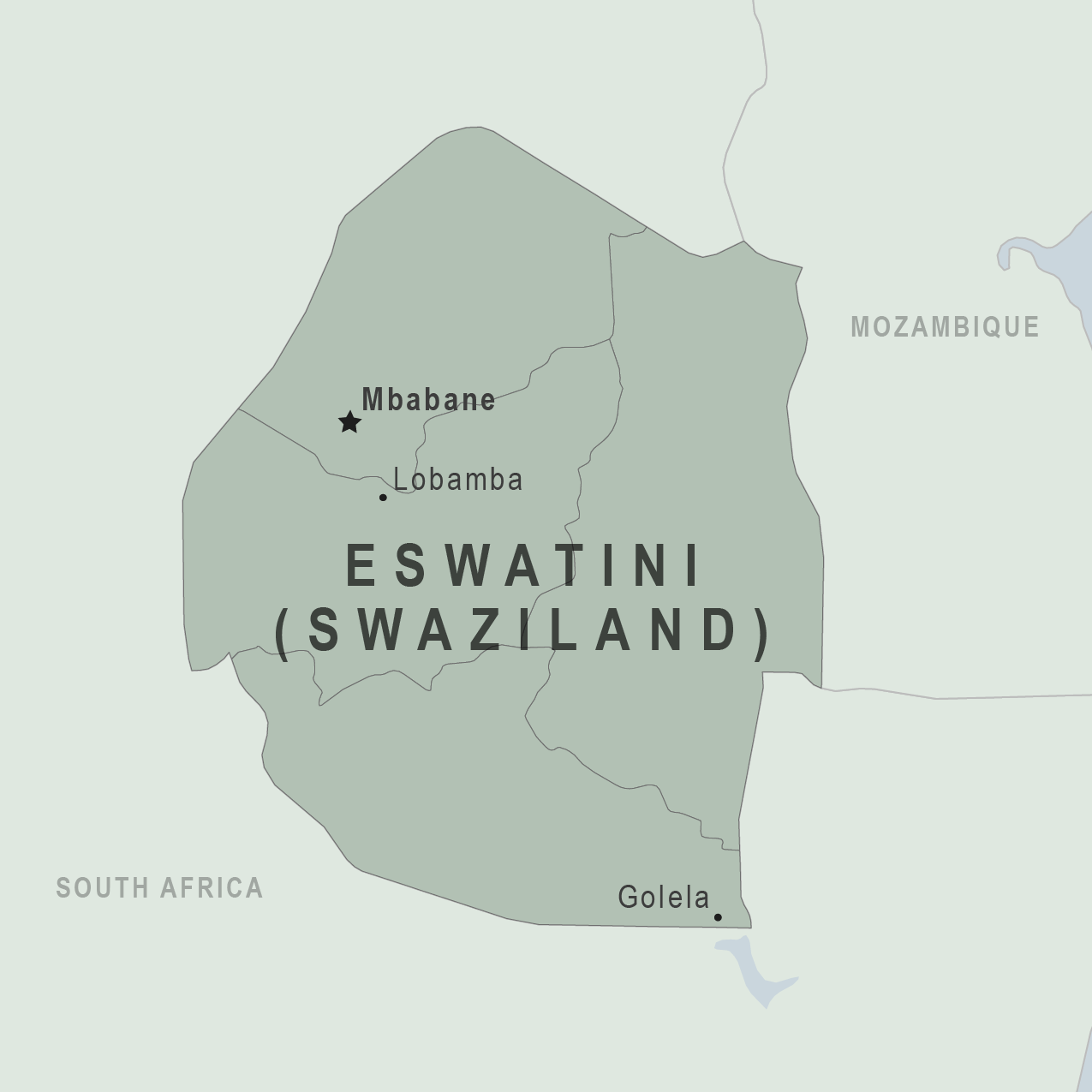 Map - Swaziland