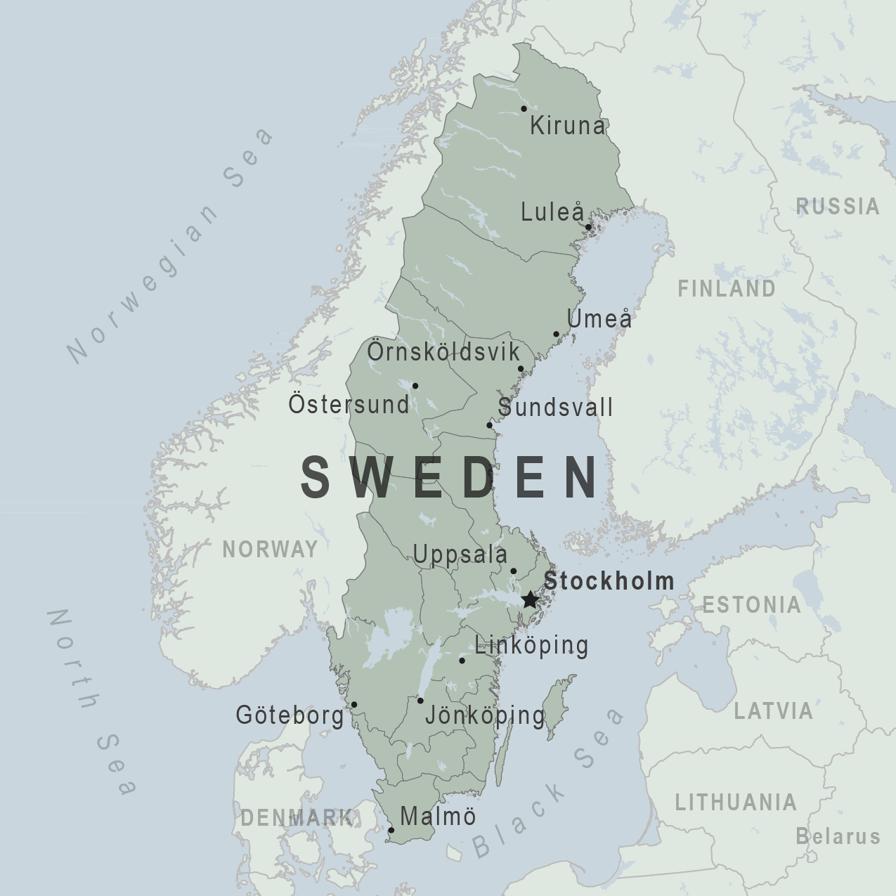 Health Information For Travelers To Sweden Traveler View - Sweden big map