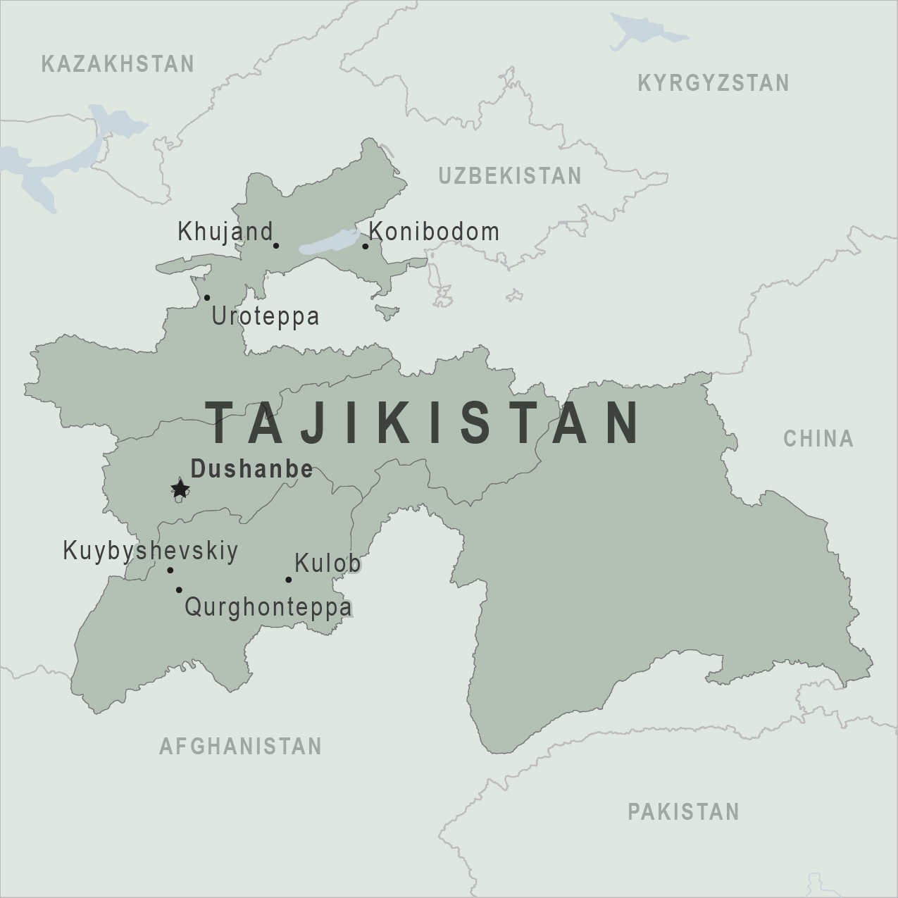 Health Information For Travelers To Tajikistan Traveler View - Dushanbe map