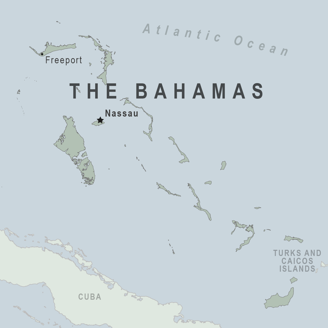Map - The Bahamas