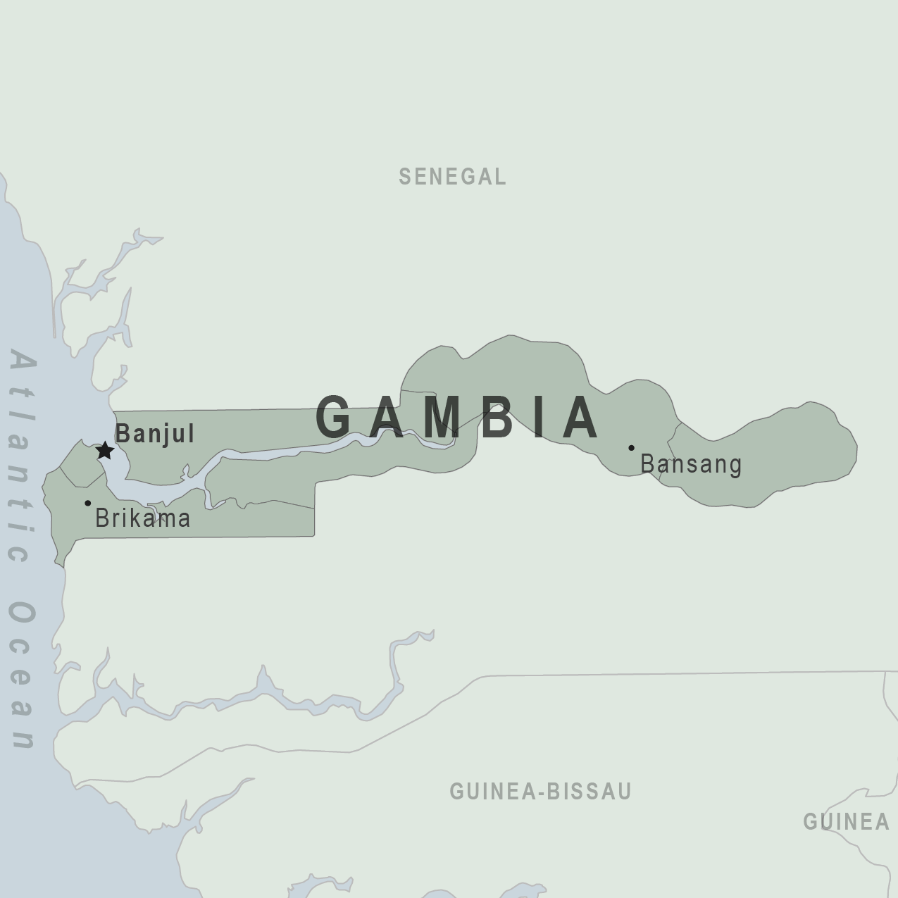 Map - The Gambia