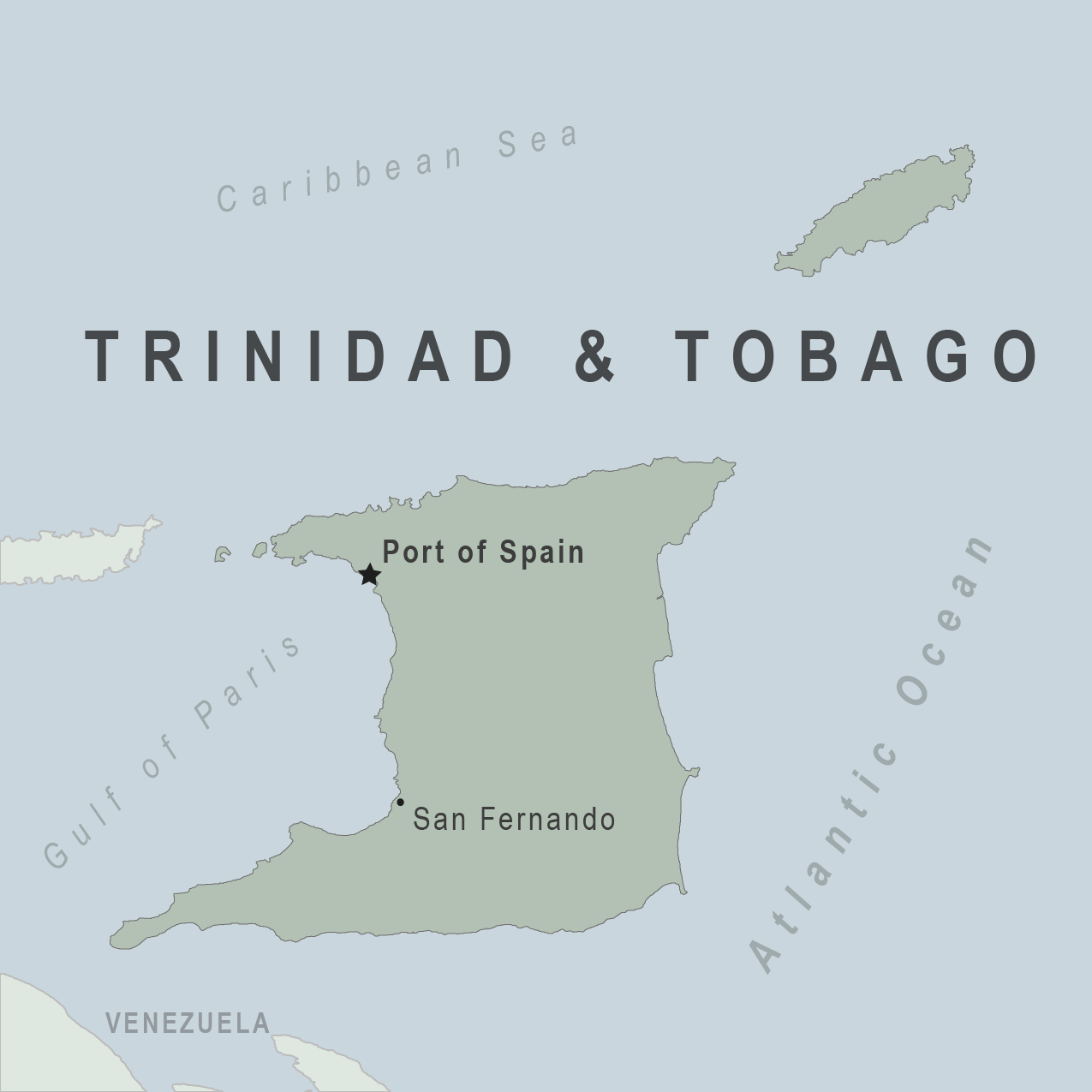 Map - Trinidad Tobago