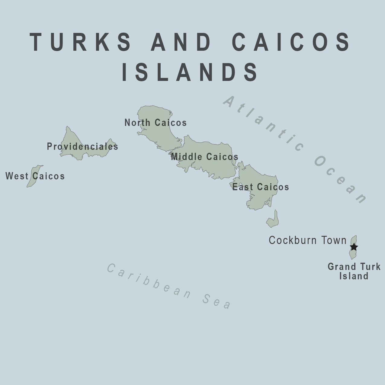 Map - Turks and Caicos Islands