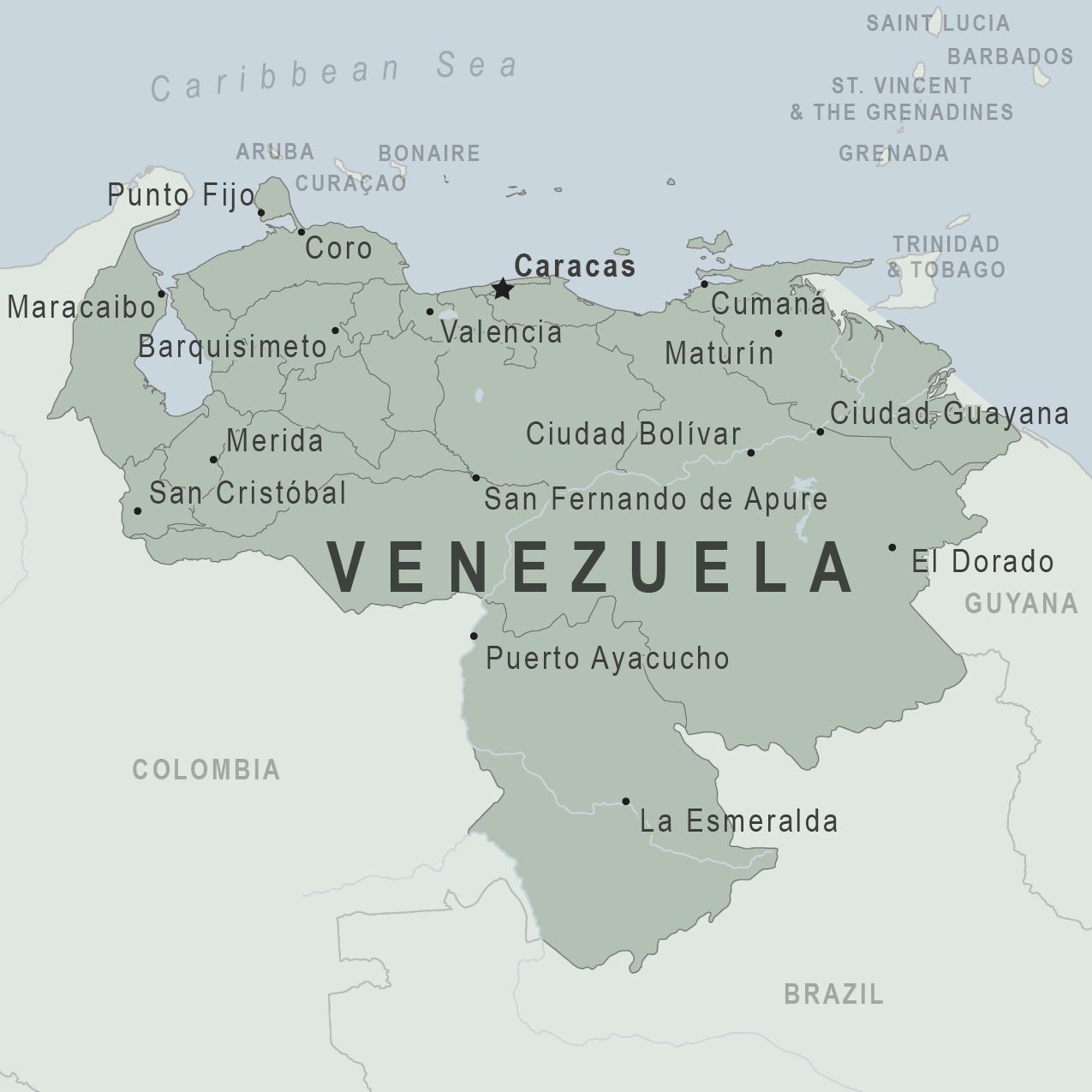 Health Information For Travelers To Venezuela Traveler View - Venezuela map