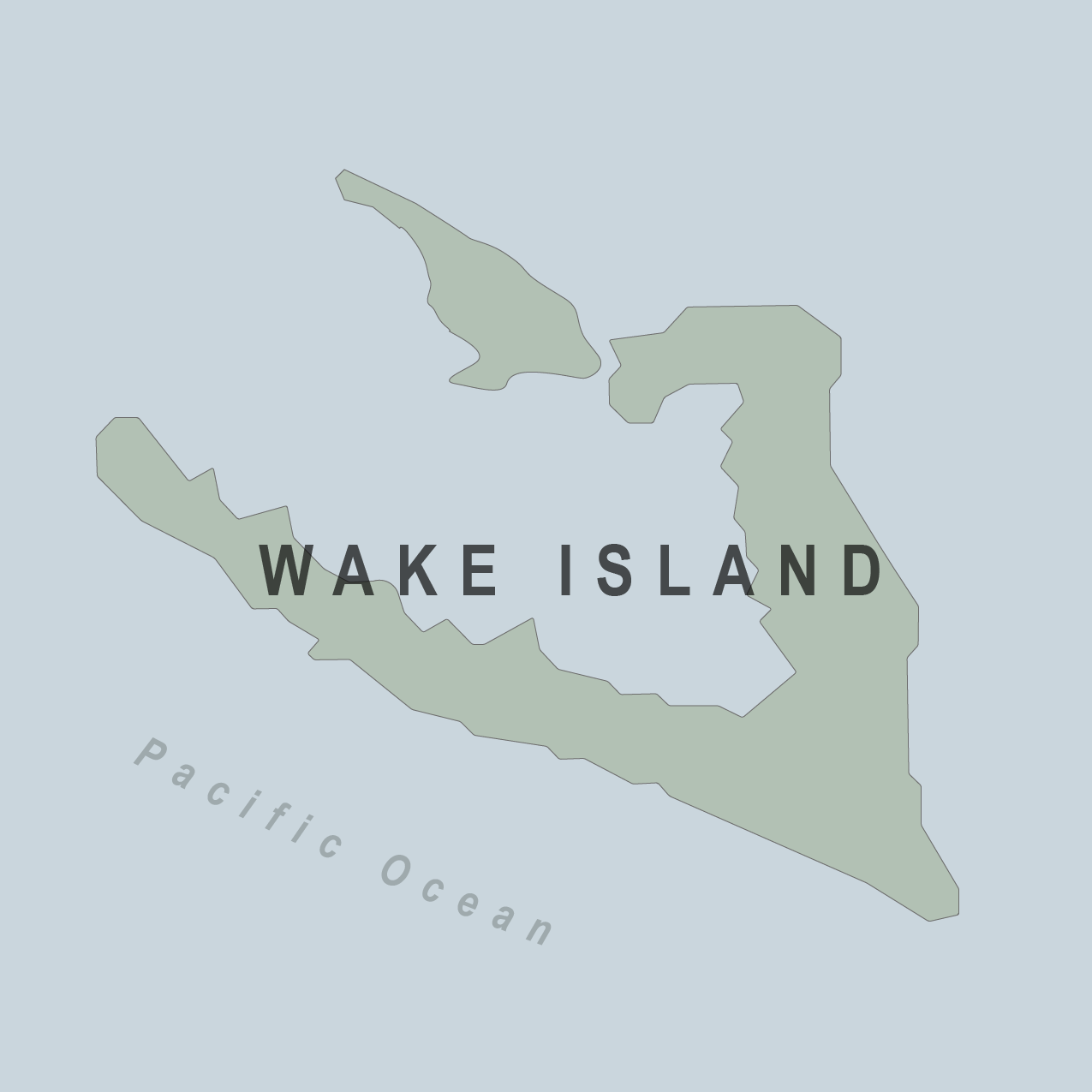 Map - Wake Islands