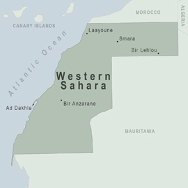 Health Information For Travelers To Western Sahara Traveler View - Western sahara map