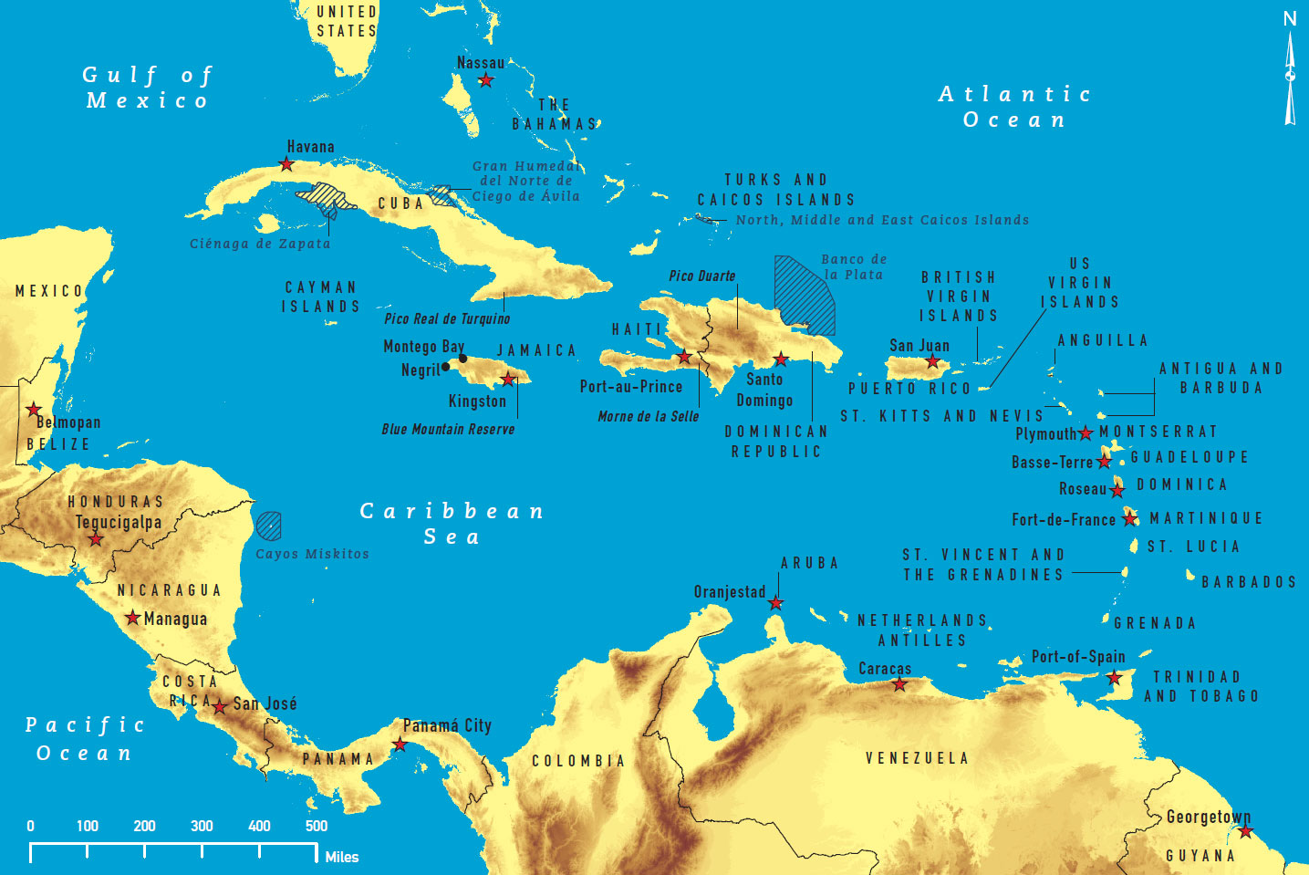 Smart image in printable map of the caribbean