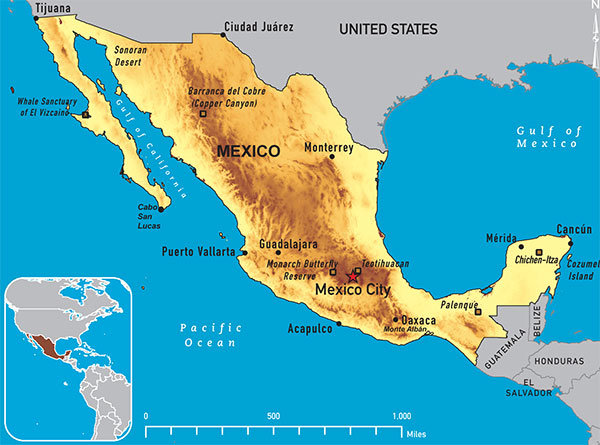 Map 4-10. Mexico destination map
