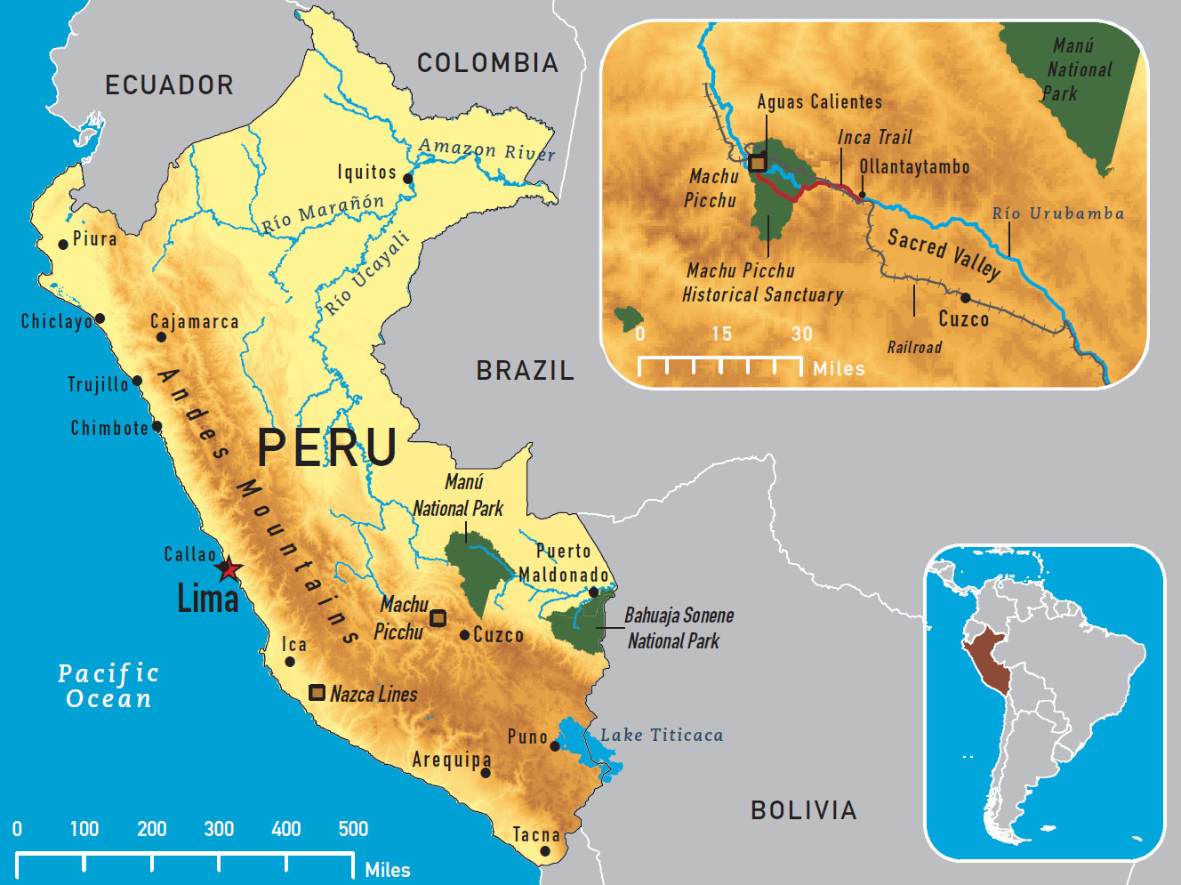 It's just an image of Tactueux Printable Map of Peru