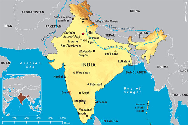 Map 4-08. India destination map