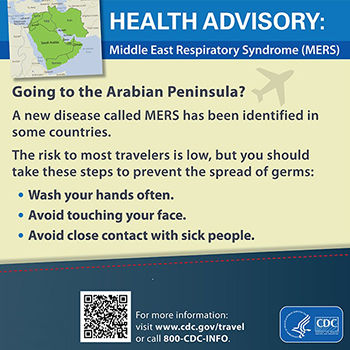 Infographic: Health Advisory - Middle East Respiratory Syndrome (MERS)