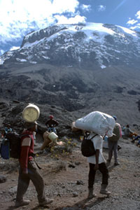 sherpas in the mountains