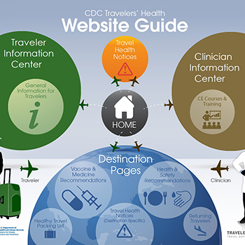 Infographic: CDC Travelers' Health website guide