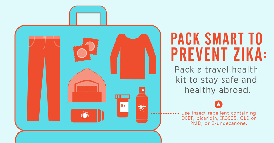 Pack smart to prevent Zika