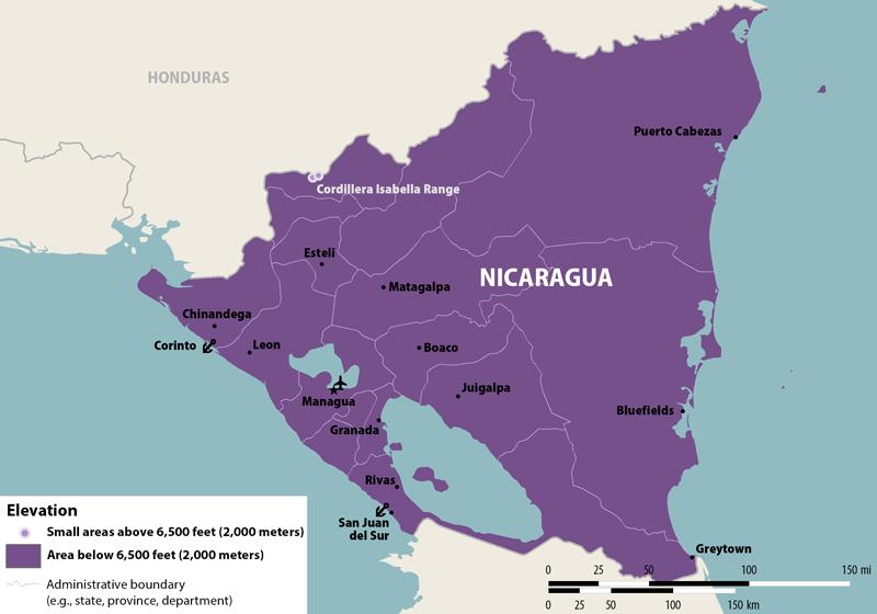 Alert Zika Virus in Nicaragua PassportsOnlineorg – Nicaragua Travel Map